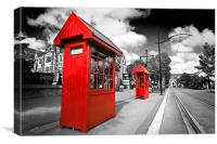 Christchurch Telephone Boxes, Canvas Print