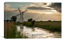 Thurne Dyke MIll, Canvas Print