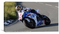Guy Martin IOMTT 2012, Canvas Print
