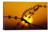 razor wire, Canvas Print