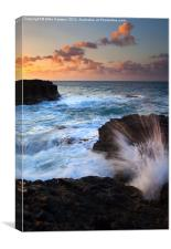 Lumahai Sea Explosion, Canvas Print