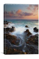 Red Sky over Kahaloowe, Canvas Print