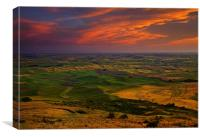 Red Sky over the Palouse, Canvas Print