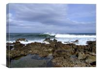 Wave breaking in Lossiemouth, Canvas Print