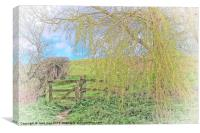 Gate From The Meadow 2, Canvas Print