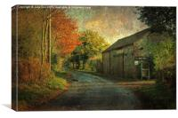 Oak Farm, Edgefield, Canvas Print