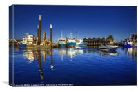 Reflections at Freemantle Harbour, Canvas Print