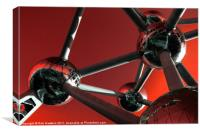Red Atomium, Canvas Print