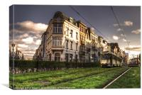Tram at Simonis, Canvas Print