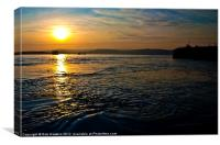 Swirling Sunset over Exmouth, Canvas Print