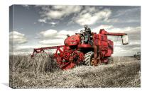 The old red Combine, Canvas Print