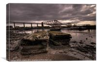 Old Jetty by the bridge, Canvas Print