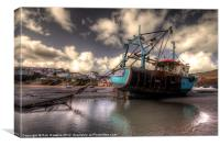 Trawler at New Quay, Canvas Print