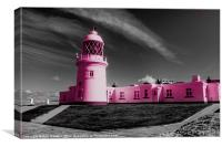 The Pink Lighthouse, Canvas Print