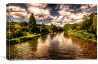 Summer on the Exe, Canvas Print