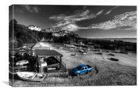 Newquay Harbour  Pickup, Canvas Print