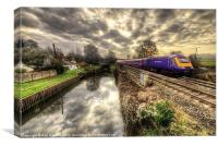 An HST at Little Bedwyn, Canvas Print