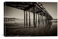 The pier at Cayucos, Canvas Print