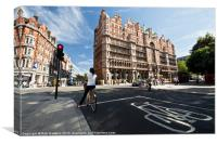 Cycling in Russell Square, Canvas Print