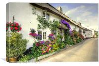 Flowers at Branscombe, Canvas Print