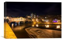 Pulteney Bridge by night, Canvas Print