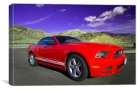 Mustang Coupe, Canvas Print