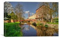 Coldharbour Mill in Spring, Canvas Print