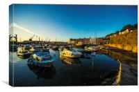 St Hellier Harbour, Canvas Print