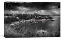 Colours of Tobermory , Canvas Print