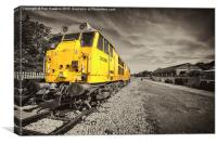 Class 31 at Exeter Riverside , Canvas Print