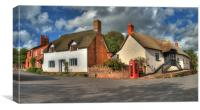 Thatched cottages of Halse, Canvas Print