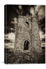 Cripplesease Engine House in Mono , Canvas Print