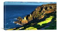 Crown Tin mines of Botallack, Canvas Print