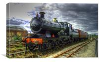 City of Truro at the National Railway Museum, York, Canvas Print