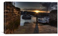 Sunset at West Bay, Canvas Print