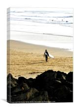 Off for a Surf, Canvas Print