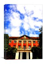 Tapeley House and sky, Canvas Print