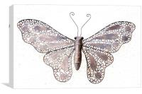 Metal Butterfly, Canvas Print