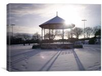 Winter in the Park, Canvas Print
