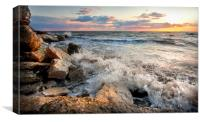 Hunstanton Sunset, Canvas Print