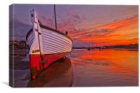 Stranded in Burnham Overy Staithe, Canvas Print