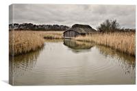 Hickling Boat House, Canvas Print