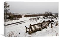Winter Views over Brancaster Staithe, Canvas Print