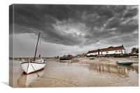 Burham Overy Staithe Storms, Canvas Print