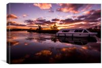 Evening Light on the Norfolk Broads, Canvas Print