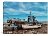 Brancaster Staithe at Low Tide, Canvas Print
