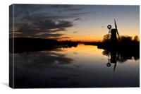 Mirror Image on the Norfolk Broads, Canvas Print