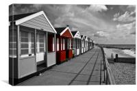 More Southwold Beach Huts selective, Canvas Print
