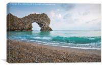 Afternoon at Durdle Door, Canvas Print