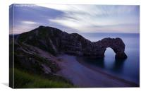 Durdle Door at Dusk, Canvas Print